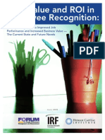 Value and ROI in Employee Recognition