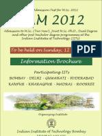 IIT JAM 2012 Brochure