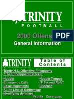 2000 Trinity High School (KY) Spread Offense - 137 Slides