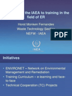 Approach of the IAEA to training in the field of ER