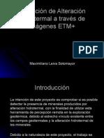 Detección de Alteración Hidrotermal a Través de Imágenes ETM+