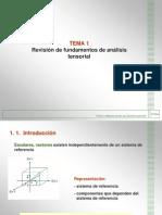 Tema 1 Revision de Fundamentos de Analisis Tensorial
