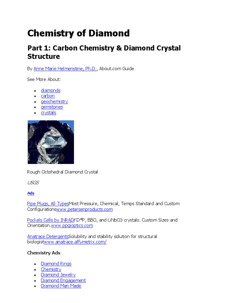 Chemistry of Diamond