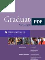 Graduate Catalog 2011 12