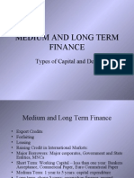 Medium & Long Term Finance