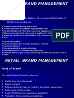 Retail Brand Management