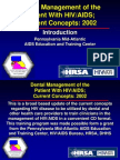Dental Management of the Patient With HIVAIDS 2002