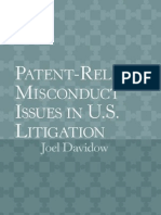 Patent Related Misconduct Issues in U S Litigation