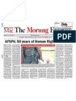 Frontpage on AFSPA