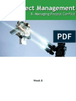 Project Management Week 8 Project Conflict