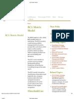 BCG Matrix Model