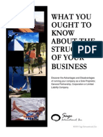 The Structure of Your Business