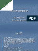 Arthritis Case Presentation - Dr. Klaes