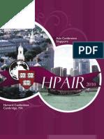 HPAIR 2010 Brochure