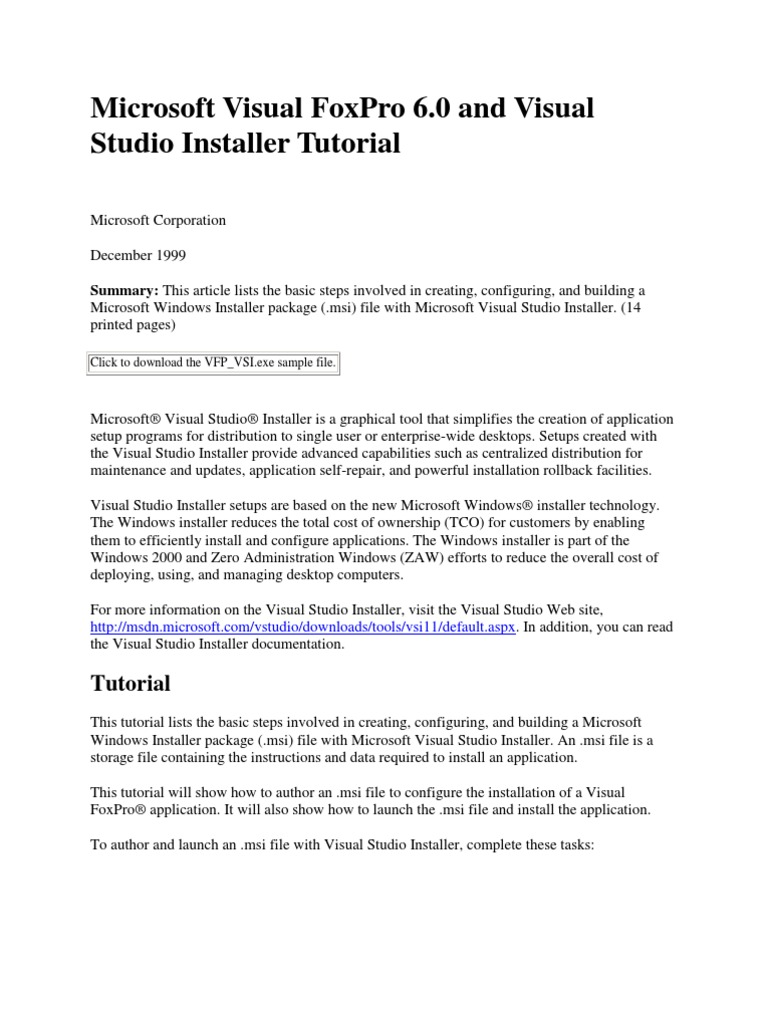 Microsoft Visual FoxPro 6 | Windows Registry | Microsoft