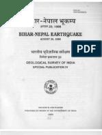 Bihar- Nepal Earthquake 20 August 1988