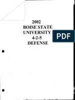 2002 Boise State Broncos 4-2-5 Defense - 142 Pages
