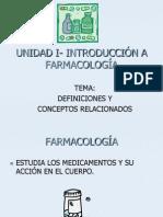 Unidad I- Introducción a Farmacología (2010)