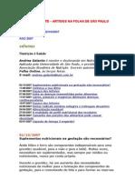 Andréa Galante - Folha Equilíbrio Online - Nutrição - De 02-01-2007 Até 02-10-2007