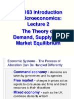 Micro Lecture 2 Theory of Demand Supply and Market Equlibrium