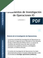 Fundamentos de Investigación de Operaciones IO