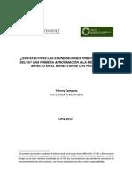 ¿Son efectivas las exoneraciones tributarias en la selva? una aproximación de impacto en el bienestar de los hogares
