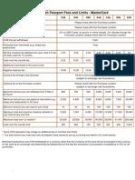 Cash Passport Fees and Limits - MasterCard_Visa