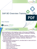SAP BO Overview Training