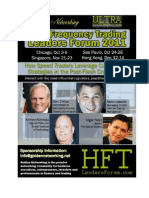 Founder of I-Access Group, Keynote Speaker at High-Frequency Trading Conference in Singapore