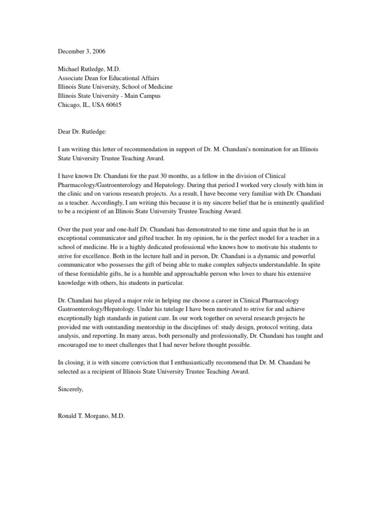 letter of recommendation to recognize a volunteer worker