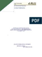 Seminar Administrative Development i