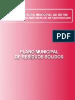Plano Da Politica Municipal de Residuos Solidos BETIM