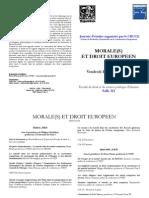 Morale(s) et droit européen - programme