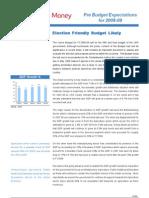 Reliance Budget Exp 08 09