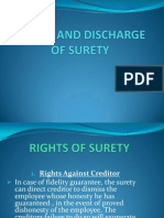 Rights and Discharge of Surety