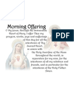 Immaculate Heart of Mary & Sacred Heart of Jesus - Morning Offering Pillow Case