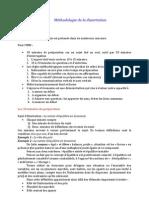 Méthodologie de la dissertation