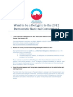Want to Be a Delegate to the 2012 Democratic National Convention