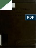Wijnkoop. Manual of Hebrew syntax. 1897.