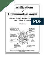 Classifications of Communitarianism - Butcher