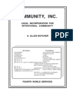 Community, Inc Legal Incorporation - Butcher