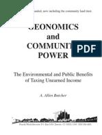 Geonomics and Community Power - Butcher