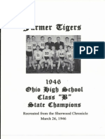 Farmer Tigers 1946 Ohio State Basketball Class B Champs