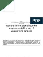 Impact de Mediu-VESTAS Wind Turbines