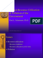 Natural Resource Utilization & Pollution of the Environment