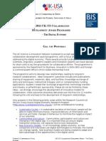 Digital Economy Collaboration Development Award Scheme - 2011