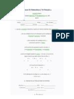 Examen De Matemáticas 3