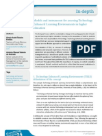 Models and instruments for assessing Technology Enhanced Learning Environments in higher education