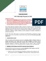 2010 VEF Fellowship Announcement_E