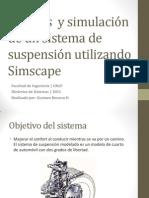Análisis y simulación de un sistema de suspensión utilizando SimScape.